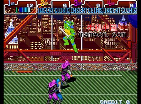 忍者神龟2代4人版 Teenage Mutant Ninja Turtles - Turtles in Time(4 Players)