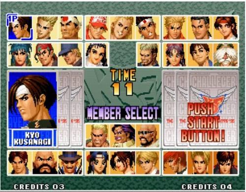 拳皇96 The King of Fighters 96出招表
