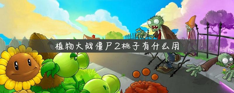 植物大战僵尸2桃子有什么用