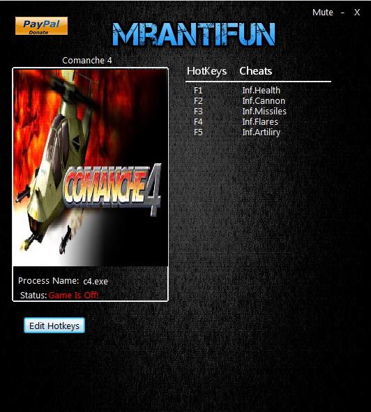 卡曼奇4五項修改器 v1.0.1.2 MrAntiFun版
