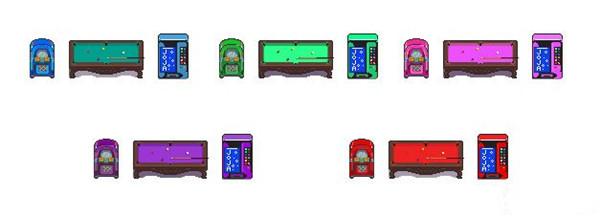 星露谷物语可乐机台球桌自动点唱机颜色替换MOD linasouls9版