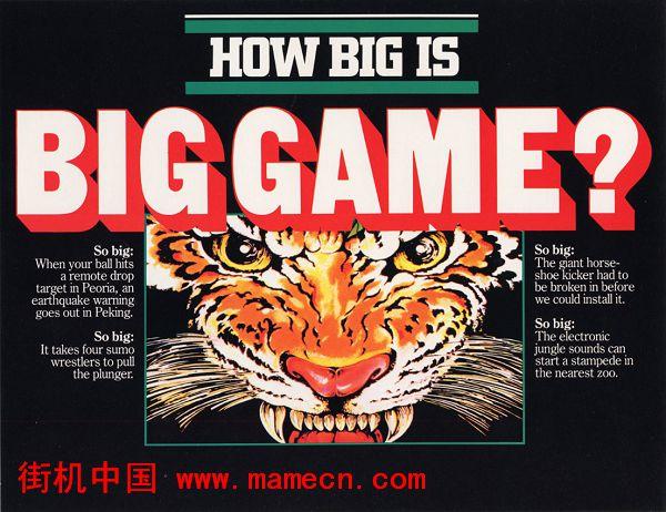 大游戏Big Game街机游戏海报