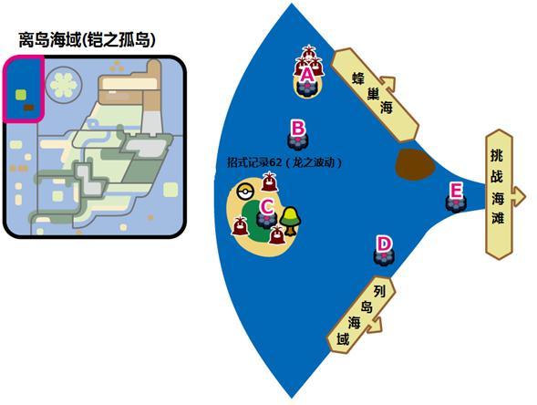 口袋妖怪劍盾凱之孤島離島海巢野生寶可夢出沒場所攻略分享