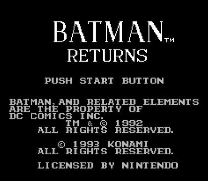 FC游戏《蝙蝠侠3:蝙蝠侠归来》一命通关视频攻略分享