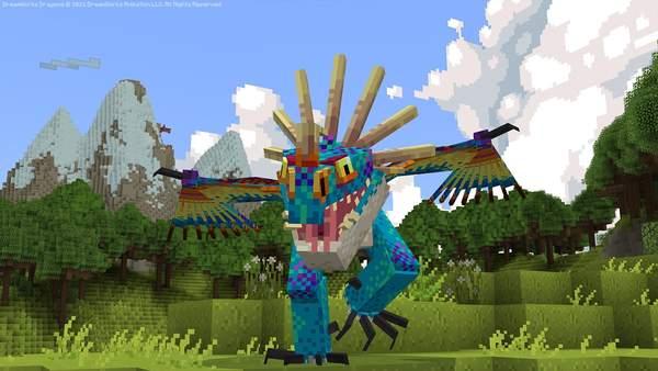 《我的世界》驯龙高手DLC上线 新增角色/飞龙/维京岛