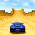 疯狂的汽车特技巨型坡道游戏